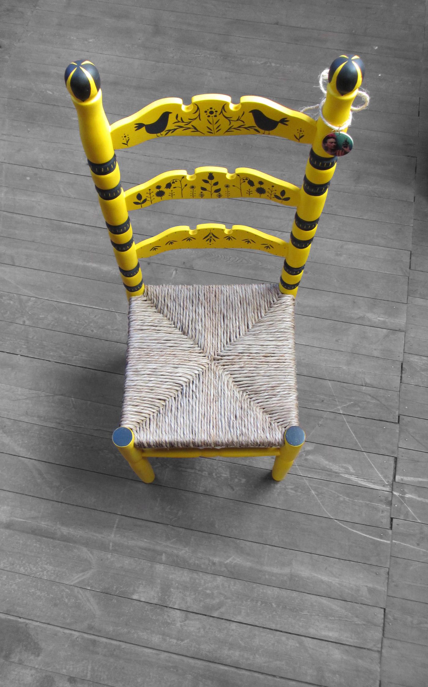 """sedia decorata laboratorio """"ennio gentile"""" avezzano"""