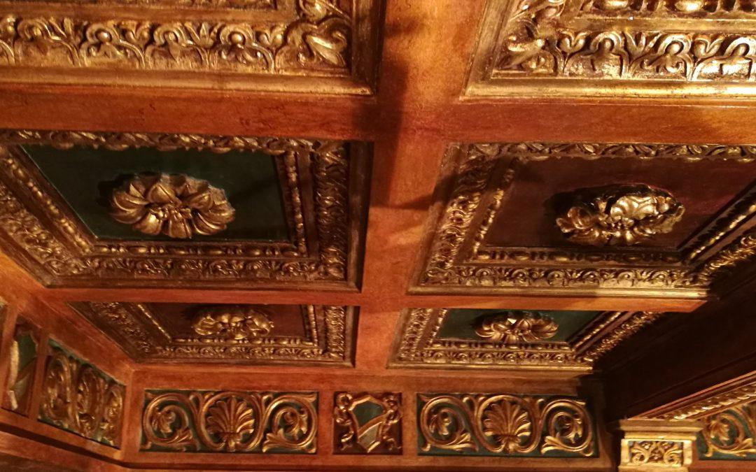 Il restauro del soffitto della Sala Consiliare del Comune di Avezzano